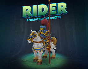 Rider knight animated character 3D model