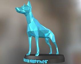 3D print model Poly Doberman Pinscher Dog