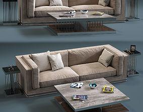 3D asset Fratelli Longhi MASON 2-Seates Sofa