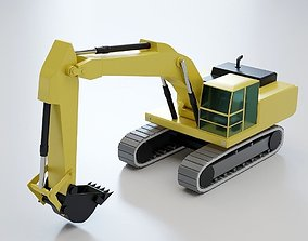 3D model Hydraulic Excavator Lowpoly - Heavy Machinery 1