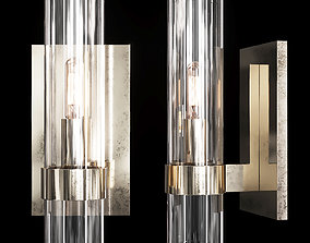 3D sconce Restoration Hardware RAVELLE SCONCE Nickel