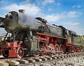 3D model BR-52 Kriegslok Steam Locomotive Engine