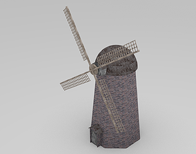 3D model Animated wind mill