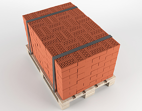 Brick on pallet 3D model