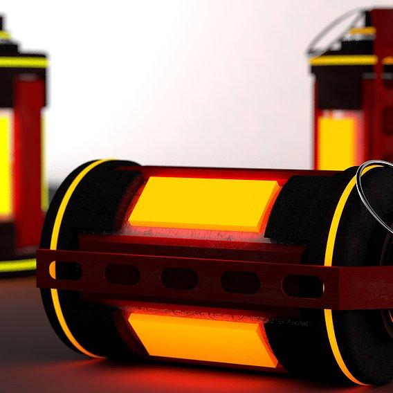 sci-fi grenade design