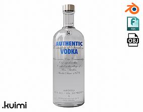 3D asset Vodka Bottle 003