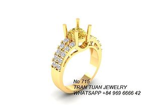 715 Diamond Ring 3D print model women