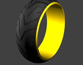 jewelry Tyre Ring tread 1 3D printable model