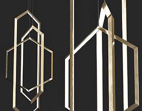 ORBIS VX46 CHANDELIER LIGHT FIXTURE 3D model
