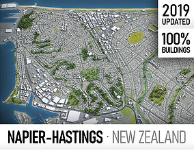 Napier - Hastings - city and surroundings 3D asset