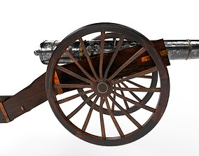 3D asset French Cannon
