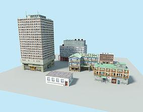 3D model city buildings pack