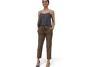 Stylish Woman on High Heels CWom0338-HD2-O02P01-S 3D
