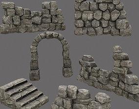 wall set 3D asset