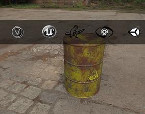 3D asset Rusty Barrel Biohazard Style