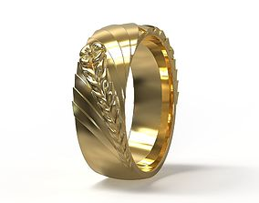 Ring with flower 3D printable model