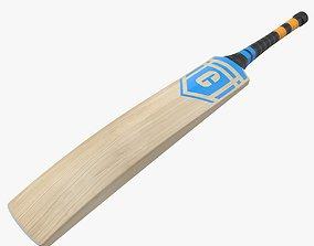 3D asset game-ready PBR Cricket Bat
