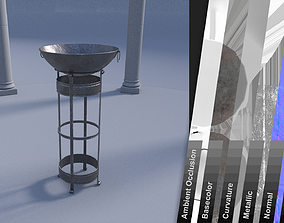 3D model outdoor furniture fire pit