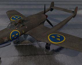 Saab J-21 A-1 3D model