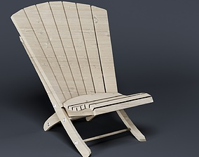 3D simple adirondack chair