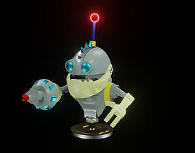 3D printable model Mr Zurkon Robot Statue
