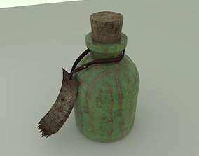 Flask of poison 3D asset game-ready