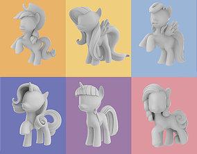 My Little Pony - 6 Main Character 3D Model
