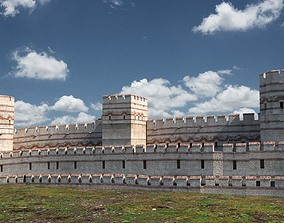 3D model Byzantium rampart - istanbul surlar