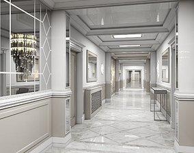 3D model Grand Corridor Tileable Kit 2