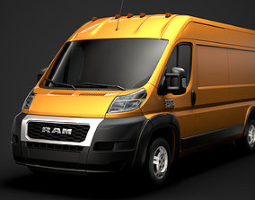 3D model Ram Promaster Cargo 2500 HR 159WB 2020
