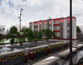 residential building 3d Model 2 for secondary
