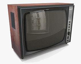 3D asset low-poly Old TV vintage