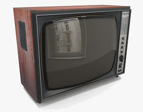 Old TV 3D asset game-ready