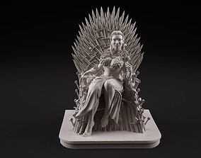 Sansa on the throne 3D printable model