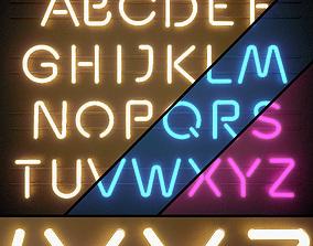Light modules Set 06 Neon Alphabet 3D