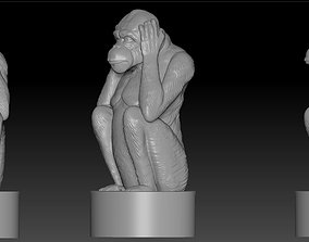 monkey 3D printable model netsuke