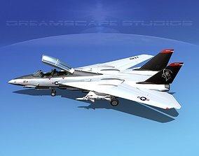 Grumman F-14D Tomcat T09a vf101 3D model