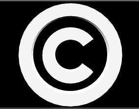 The Copyright Symbol 3D asset