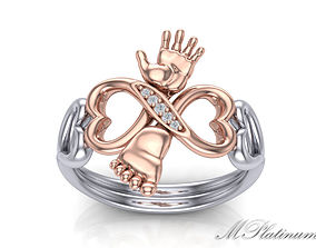 3D print model Baby Ring - mother ring 0054
