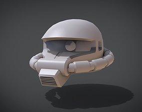 3D printable model Zaku II Gundam Head