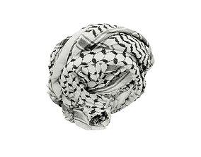 HeadScarf Double Tuck 3D