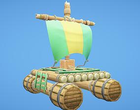 3D asset Raft Hand-Painted