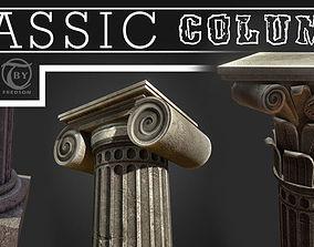 3D model low-poly Classic Columns