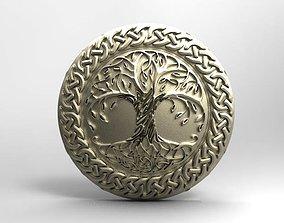 celtic tree of life pendant 3D printable model