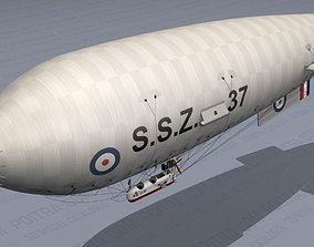 Airship - English Royal Naval Air Service SSZ 3D model 4