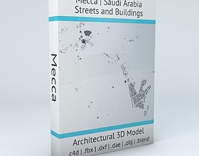 Mecca Streets and Buildings street 3D model