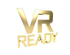 VR Ready Symbol v1 005 3D model