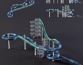 3D model water Park slides4 design