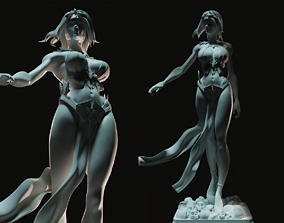 heroine 3D printable model Warrior