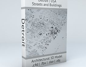 Detroit Streets and Buildings 3D model